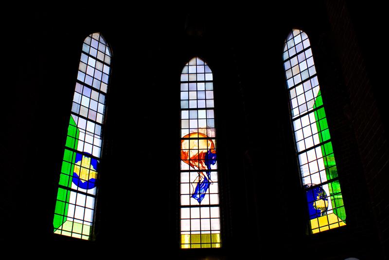 glas-in-loodramen St. Jan de Doper